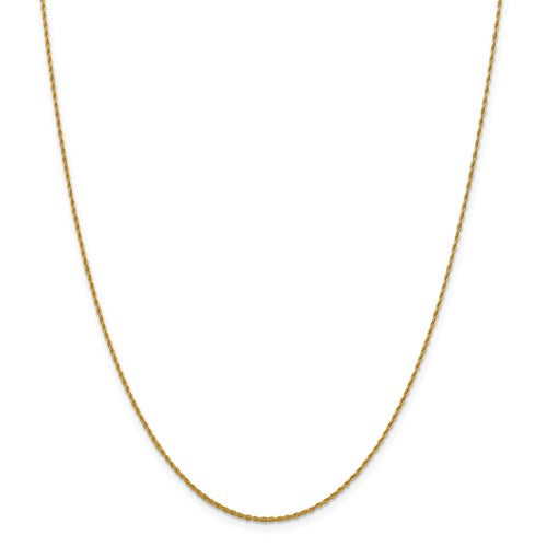 "14K Yellow Gold 1.3 mm Pendant Rope Chain Available Sizes 16""-24"""
