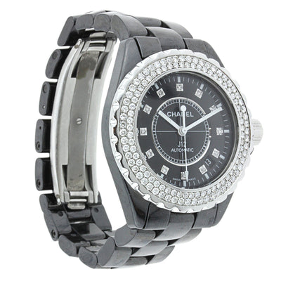 Chanel J12 Black Ceramic with Diamonds 42MM H2014
