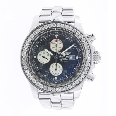 Breitling Super Avenger Stainless Steel with Diamond Bezel
