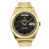 18k Gold Rolex Day-Date II 218238 41mm Black Dial