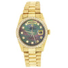 18K Yellow Gold Rolex Day Date President 36MM Mother Of Pearl Diamond Dial With 1.75CT Diamond Bezel