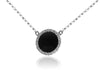 18K White Gold Diamond Circle Necklace 0.20CT