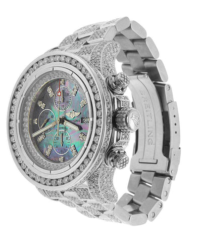 Breitling Super Avenger with White Diamond Bezel and Bracelet