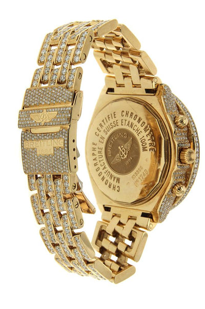 Yellow Gold Breitling Crosswind Custom with White Diamonds