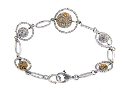 Two Tone Diamond Bracelet
