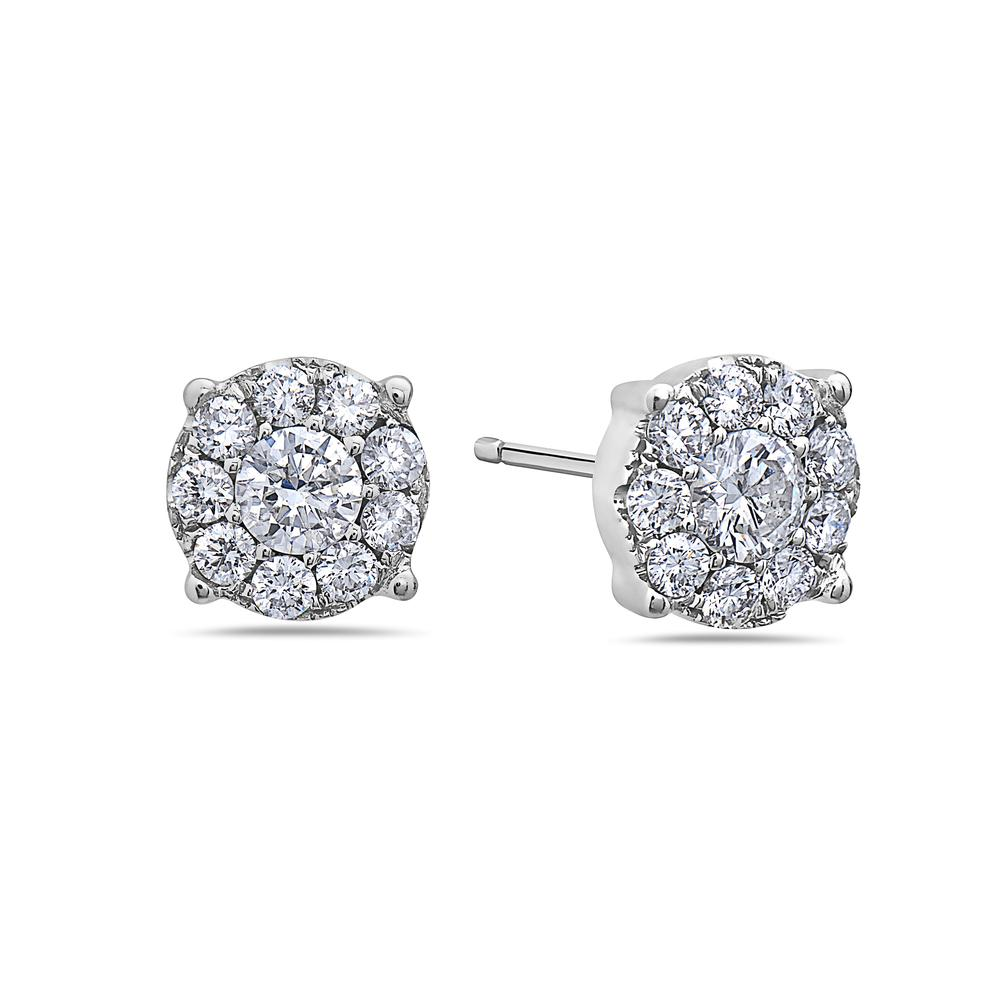 18K White Gold Ladies Earrings With 0.71 CT Diamonds