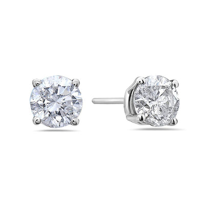 14K White Gold Ladies Earrings With 0.70 CT Diamonds