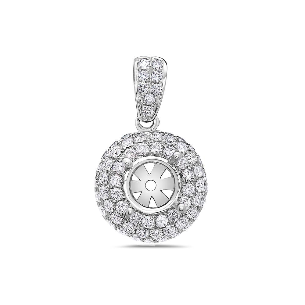 18K White Gold Asterisk Women's Pendant With 1.18 CT Diamonds