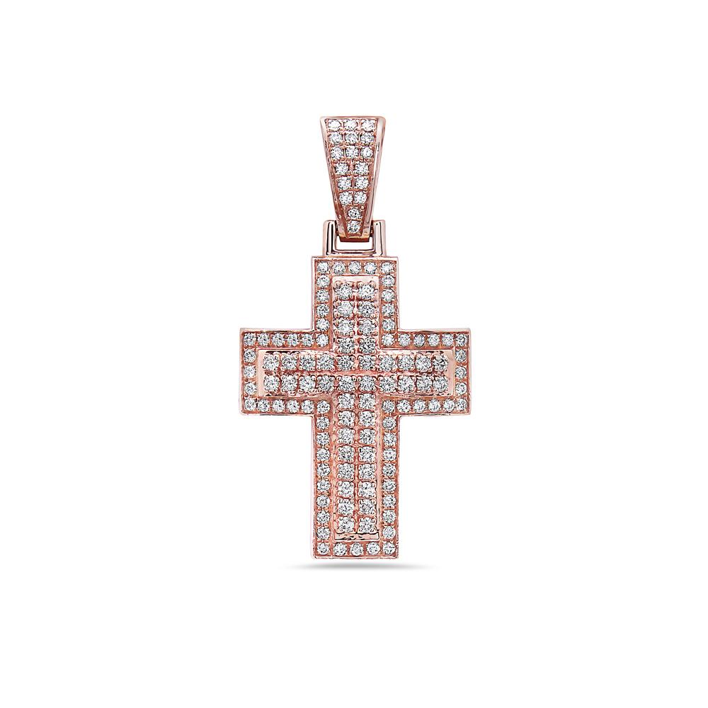 By Photo Congress || Rose Gold Cross Necklace Mens