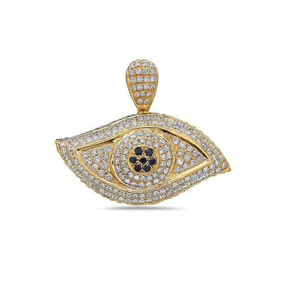Eye Women's Pendant With 5.51 CT Diamonds Available in White & Yellow Gold