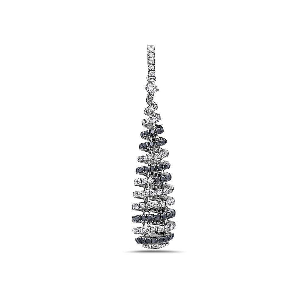 18K White Gold Tree Shape Women's Pendant with 2.03CT Diamonds