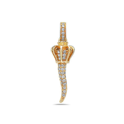 14K Women's Pendant with 0.32CT Diamonds available in White & Yellow Gold