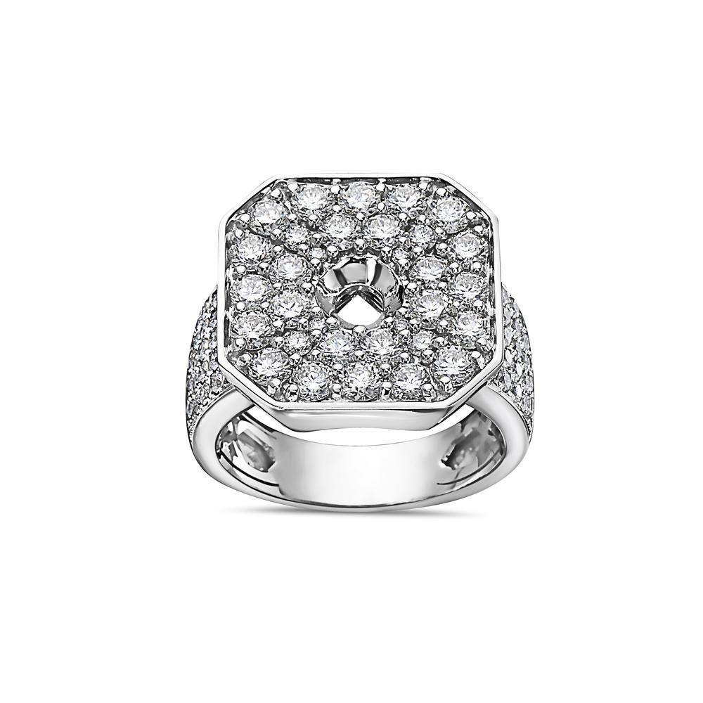 Men's 14K White Gold Ring with 3.83 CT Diamonds