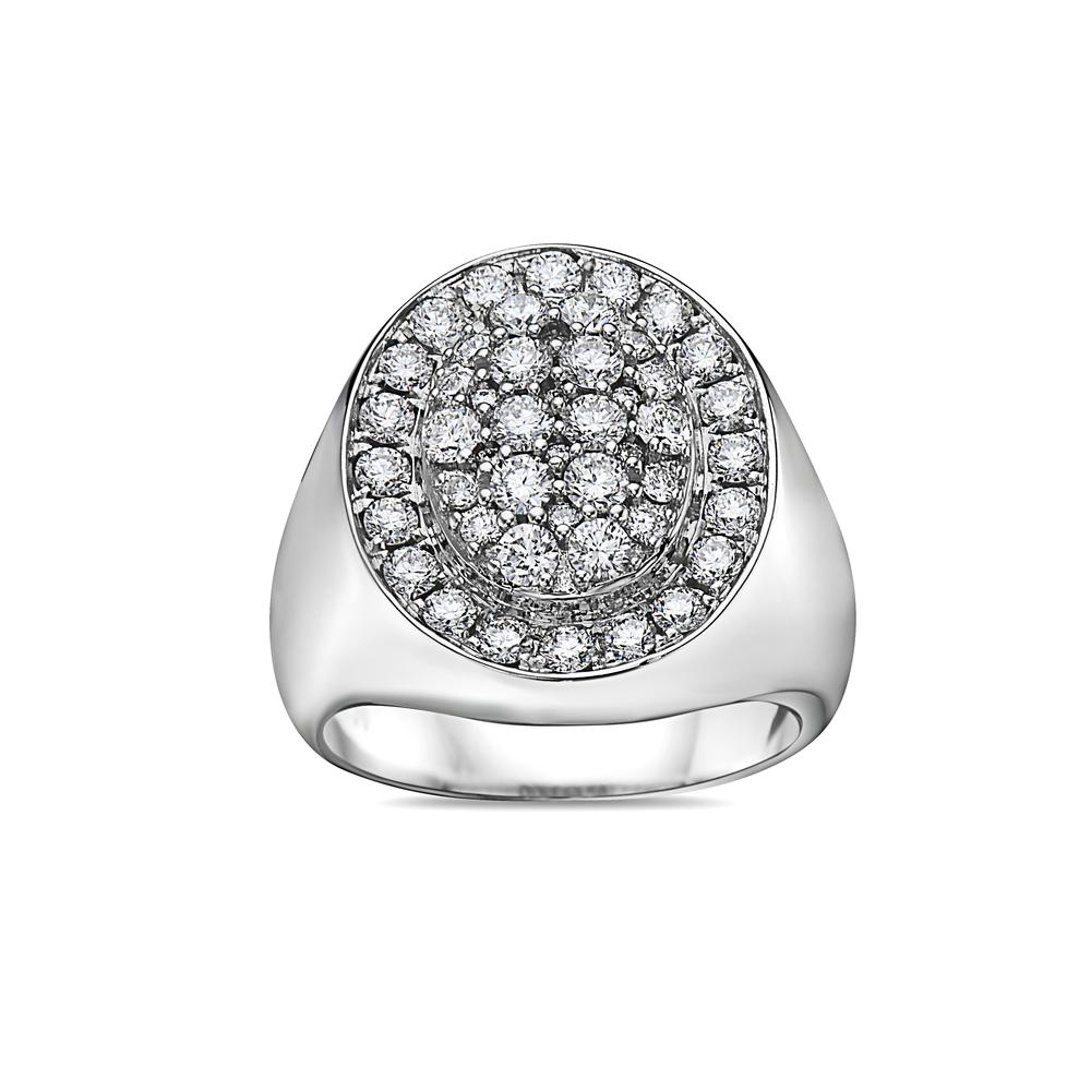 Men's 14K White Gold Ring with 2.17 CT Diamonds