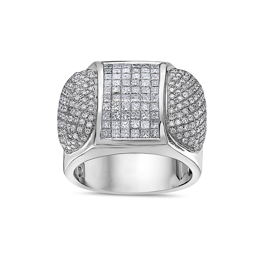 Men's 14K White Gold Ring with 3.20 CT Diamonds