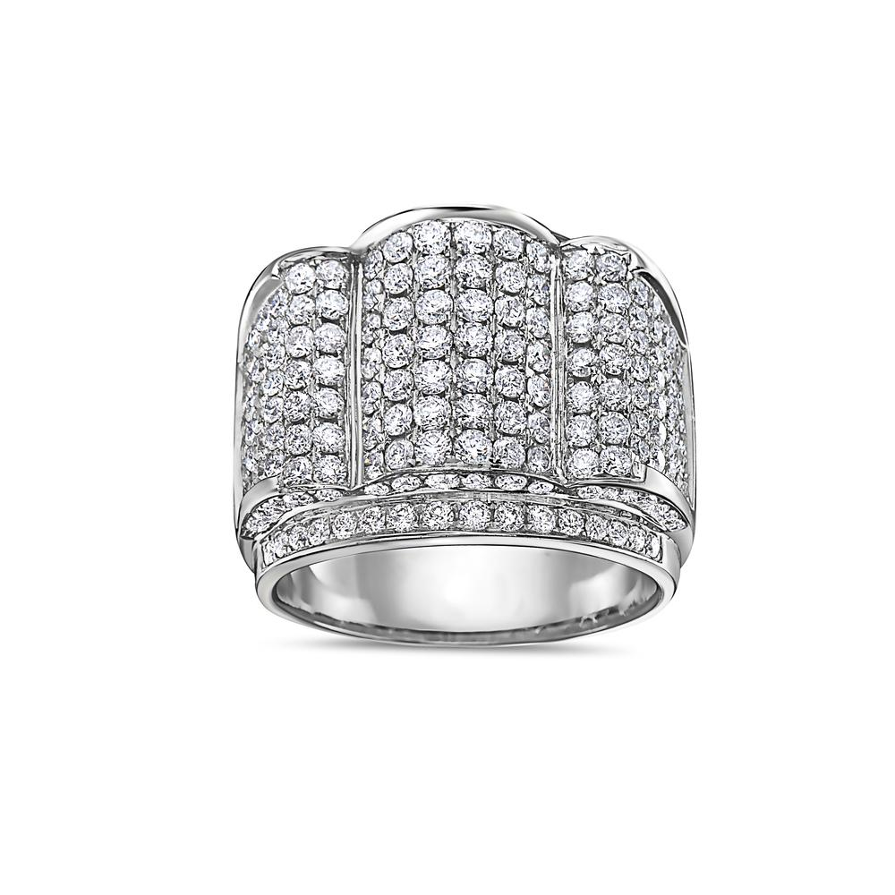 Men's 14K White Gold Ring with 4.91 CT Diamonds