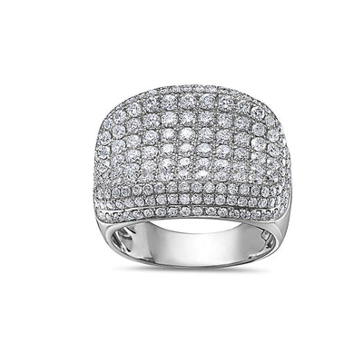 Men's 14K White Gold Ring with 4.48 CT Diamonds