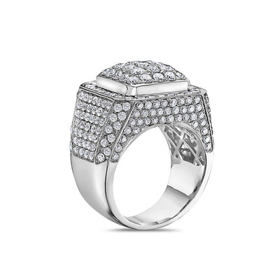 Men's 14K White Gold Ring with 5.45 CT Diamonds