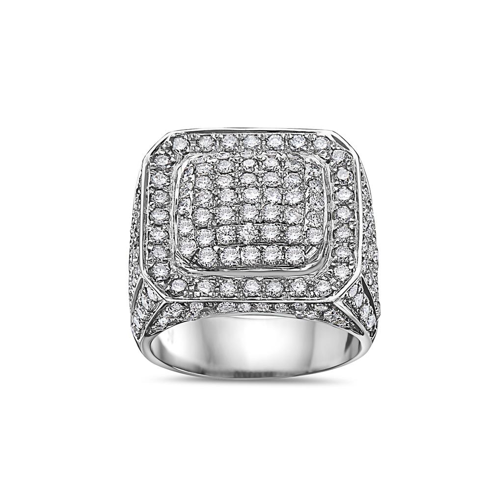 Men's 14K White Gold Ring with 5.05 CT Diamonds