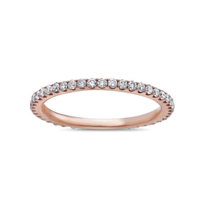 Ladies 18k Rose Gold With 0.47 CT Wedding Band