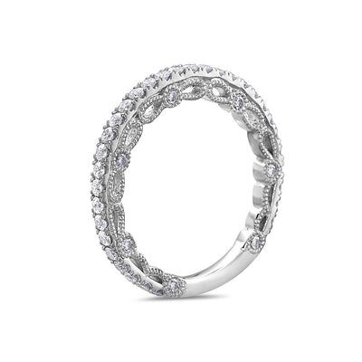 Ladies 18K White Gold With 0.72 CT Diamond Wedding Band