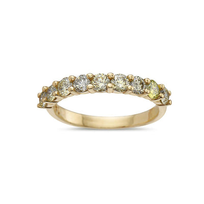 Ladies 18k Yellow Gold With 1.25 CT Diamonds Wedding Band