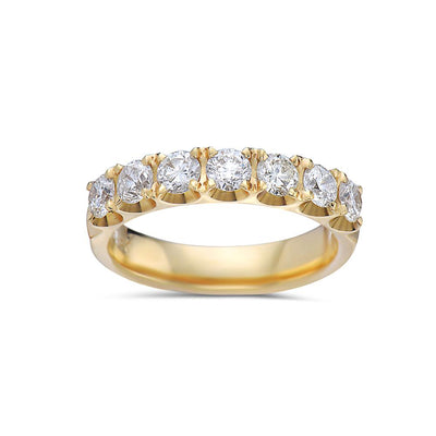 Ladies 14k Yellow Gold With 1.10 CT Diamonds Wedding Band