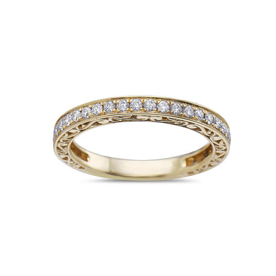 Ladies 18k Yellow Gold With 0.42 CT Diamonds Wedding Band