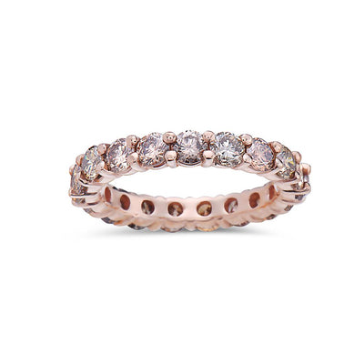 Ladies 14K Rose Gold With 2.50CT Diamonds Wedding Band