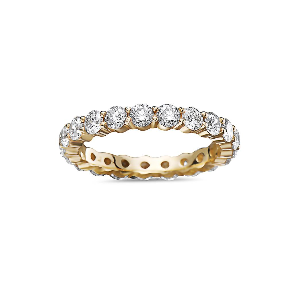 Men's 14K Yellow Gold Band with 3.40 CT Diamonds