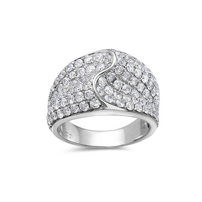 Ladies 14k White Gold With 3.44 CT Right Hand Ring