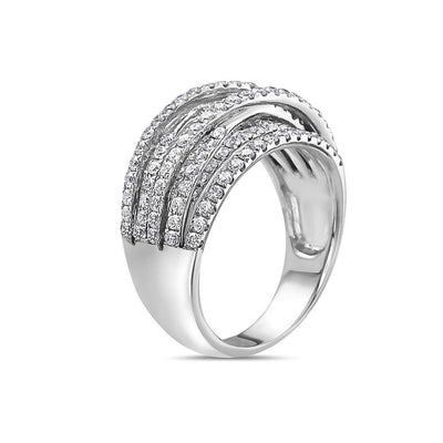 Ladies 18k White Gold With 1.35 CT Right Hand Ring