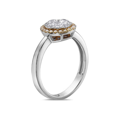 Ladies 14k White Gold With 0.99 CT Right Hand Ring