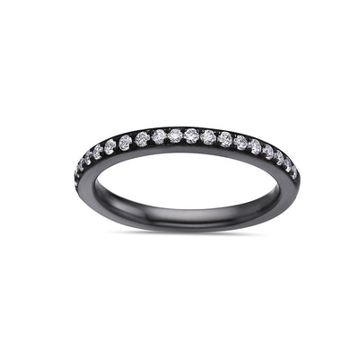 Ladies 18k Black Gold With 0.30 CT Wedding Band