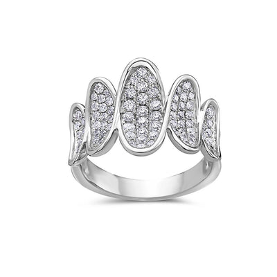 Ladies 18k White Gold With 1 CT Right Hand Ring