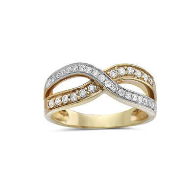 Ladies 18k Yellow Gold With 0.48 CT Right Hand Ring