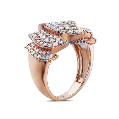 Ladies 18k Rose Gold With 1.28 CT Right Hand Ring