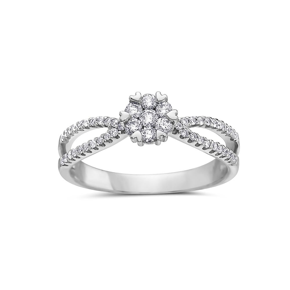 Ladies 14k White Gold Gold With 0.42 CT Right Hand Ring