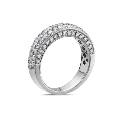 Ladies 14k White Gold With 1.70 CT Wedding  Band