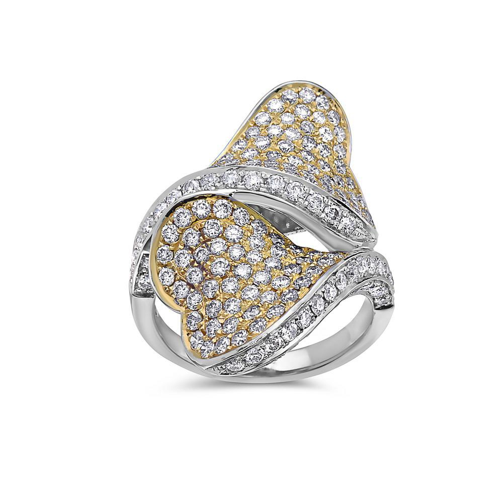 Ladies 18k White Gold With 3.06 CT Right Hand Ring
