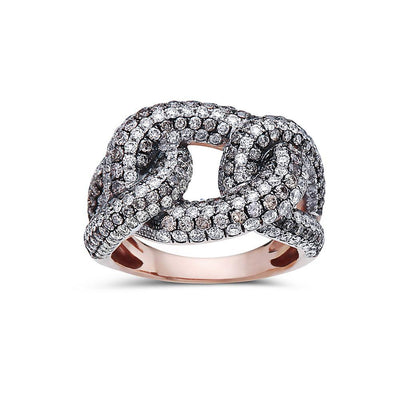 Ladies 18k Rose Gold With 2.84 CT  Right Hand Ring