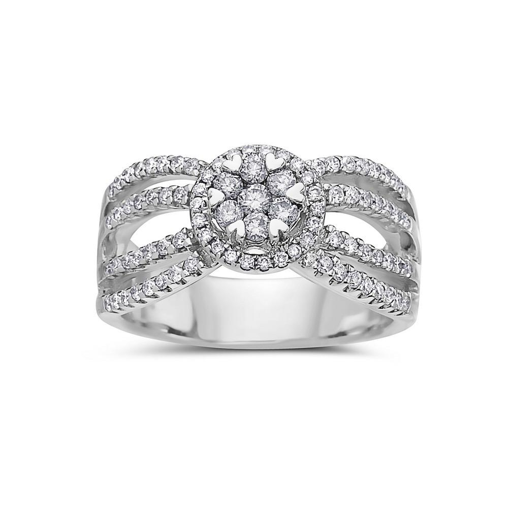 Ladies 14k White Gold With 0.81 CT Right Hand Ring