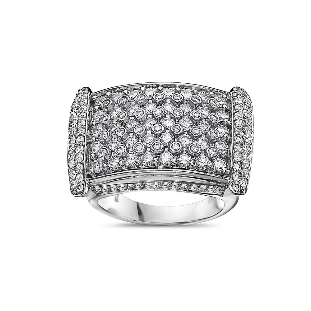 Men's 14K White Gold Ring with 4.75 CT Diamonds