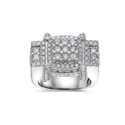 Men's 14K White Gold Ring with 4.78 CT Diamonds