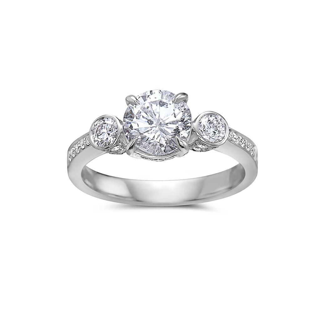 Ladies 18k White Gold With 2.23 CT Engagement Ring