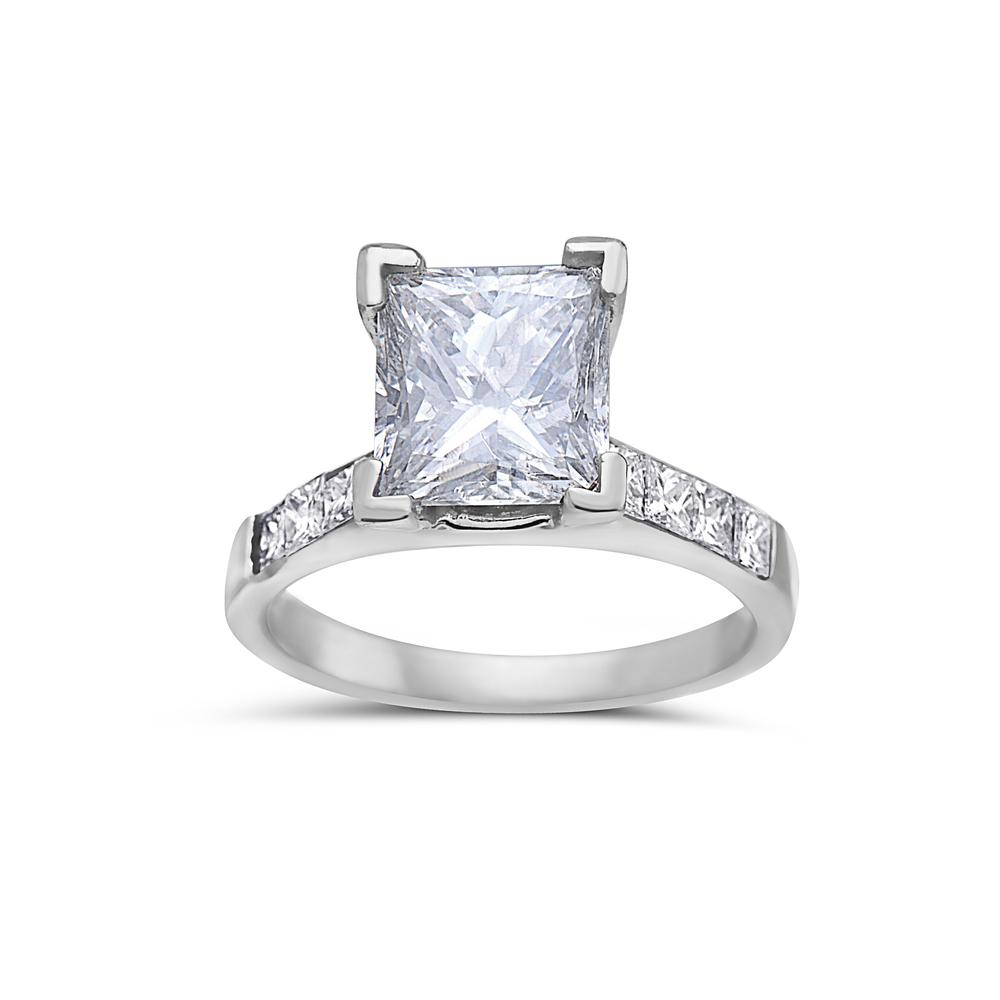 Ladies 18k White Gold With 3.1 CT Engagment Ring