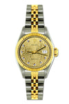 Rolex Datejust 26mm Yellow Gold and Stainless Steel Bracelet Champagne Rolex Dial