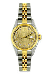 Rolex Datejust Diamond Watch, 26mm, Yellow Gold and Stainless Steel Bracelet Champagne Rolex Dial w/ Diamond Lugs