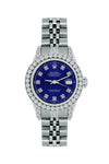 Rolex Datejust Diamond Watch, 26mm, Stainless SteelBracelet Midnight Blue Dial w/ Diamond Bezel and Lugs