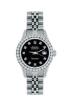 Rolex Datejust 26mm Stainless Steel Bracelet Black Russian Dial w/ Diamond Bezel and Lugs